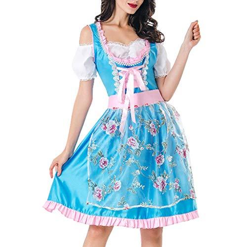 Best Buy! Kiminana Lady Halloween Maid Dress Beer Festival Women Costume Maidservant Skirt Cosplay G...
