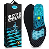 Silica Gel Sport Shoe Insole,MARRDO High-Impact Spring Cushioning Shock Absorption Shoe Insert,Forefoot enhances Massaging footbeds,Plantar Fasciitis Sports Running Insoles for Men & Women