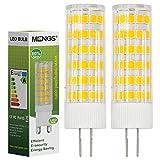 MENGS Pack de 2 Bombilla lámpara LED 7 Watt G4, 75x 2835 SMD, Blanco Cálido 3500K,AC/DC 12V