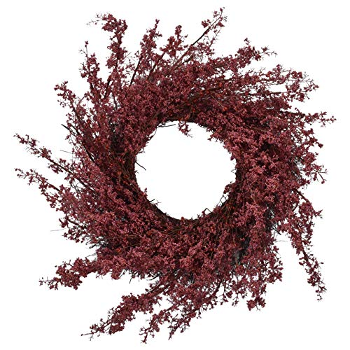 RED DECO Fall Reed Welcome Wreath for Front Door - 22-24 inch Artificial Door Wreaths for All Seasons Home Farmhouse Window Wall Decor