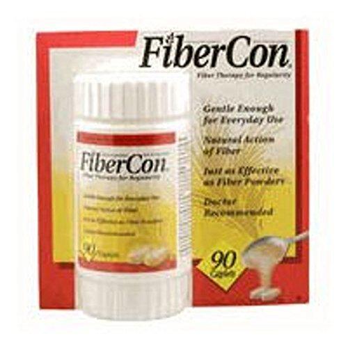 FiberCon Fiber Therapy For Regularity, 90 Caplets,...