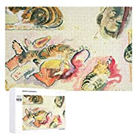 INOV 猫および頭部 ポール・ゴーギャン 勉強 ジグソーパズル 1000ピース 名画 パズル デコレーション 大人向け 75cm*50cm 壁飾り インテリア 大人の玩具 減圧玩具 ストレス解消 家族 お家で遊び
