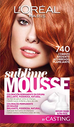 L\'Oréal Paris Sublime Mousse Tinte en Espuma Coloración 740 Cobrizo Ardiente