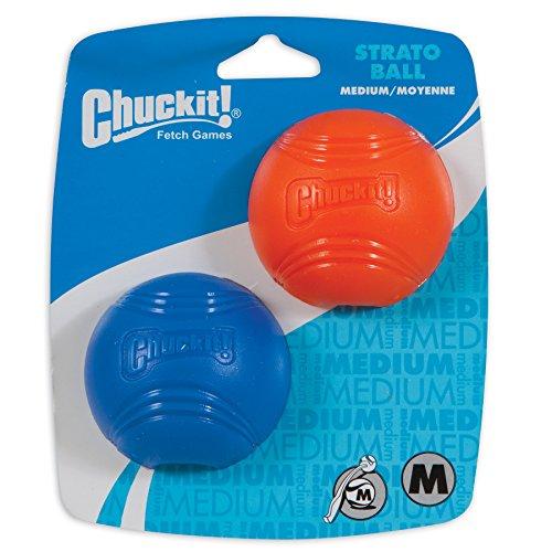 Chuckit Strato Set de 2 Balles Taille M pour Chien 1 Unité