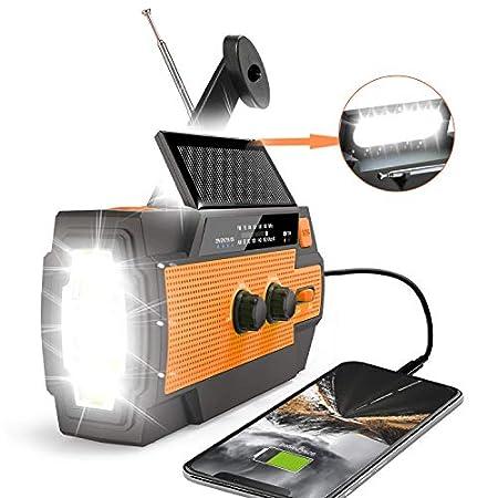 【災害対策】Runningsnail 4充電対応防災ラジオ、4000mAhバッテリー搭載 1,880円送料無料!【USB&ソーラー&電池&手回し】【8/8まで】