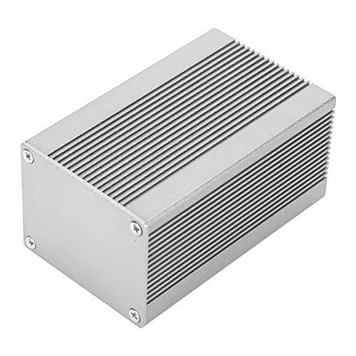 Caja electrónica para proyectos 40 x 50 x 80 mm, caja de instrumentos de circuito impreso caja de aluminio para disipación de calor