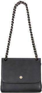 Maxwell-Scott - Borsa a tracolla da donna in pelle, fatta a mano, modello Perano, colore: nero opaco