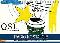Radio Nostalgie - QSL-Karten von Radiostationen aus aller Welt (Tischkalender 2022 DIN A5 quer): Empfangsbestaetigungen internationaler Radiostationen (Monatskalender, 14 Seiten )