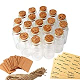 OurWarm 48pcs 25ML Glass Bottles with Cork,...