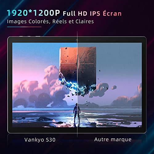 VANKYO MatrixPad S30 Tablette Tactile 10 Pouces Full HD, 8 Cœurs CPU, 3 Go RAM, 32 Go Stockage, 13 MP Caméra Arrière, 8 MP Caméra Frontale, 5G WiFi, Bluetooth 5.0, Argenté