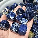 U/D 20-30mm Crystal Minerals Natural Cuarzo Cristal Azul Sodalito Cubo de Cristal de Piedra caído para el Tanque de Peces (Color : 20-30mm Sodalite, Size : 200g)