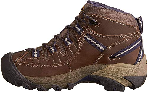 KEEN Women's Targhee 2 Mid Height Waterproof Hiking Boot,Goat/Crown Blue, 9.5 M (Medium) US