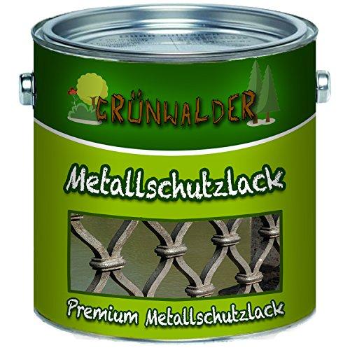 Grünwalder Metallschutzfarbe premium Metallschutzlackschnelltrocknend und leicht zu verarbeiten - TOP! (1 L, Laubgrün (RAL 6002))