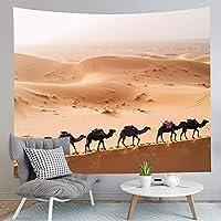 JOOCAR 砂漠のタペストリーの壮大なラクダの足跡日の出壁掛け居間の寝室の寮の装飾的な芸術のタペストリー 150cm x 230cm
