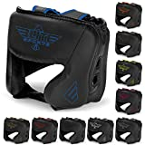 Elite Sports Boxing MMA Sparring Kickboxing Headgear for Men, Muay Thai Boxing Head Guard Helmet for Head Protection (Blue)
