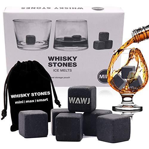 Piedras Whisky, Cubitos de Hielo para Whisky Reutilizables, Piedras de Whisky hechas de Esteatita Natural - Gift for Dad, Husband, Men