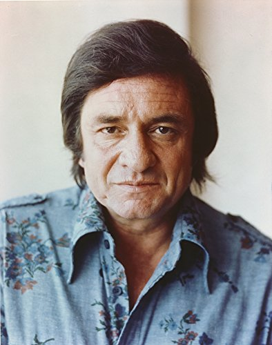 Johnny Cash Portrait in Denim Polo Photo Print (24 x 30)
