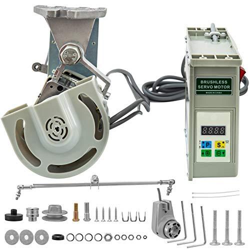 VEVOR Motor de la Máquina de Coser 220V 550W Servo Motor de Ahorro de Energía sin Escobillas 500-4500 RPM Máquina de Coser Industrial con Posicionador de Agujas Ahorro de Energía Silencioso