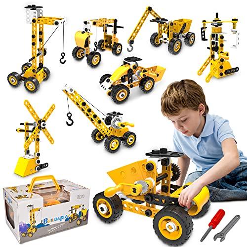 HomeTTER Educational Building Toys STEM Learning Kit, 8 in 1 Construction Blocks for Preschool Kids,...