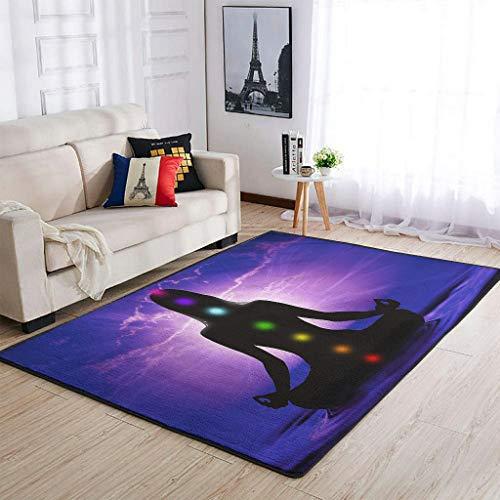 Huffle-Pickffle Alfombra para yoga y absorción de agua, duradera, 91 x 152 cm, color blanco