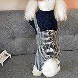 HKHJN Ropa for Perros otoño e Invierno Nuevo Abrigo de algodón de Cuatro Patas pantalón Babero Pata de Gallo versión Coreana de la Chaqueta de algodón Gruesa Mascota
