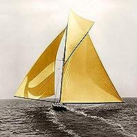 GAOWF 5D DIYダイヤモンド絵画キット、ヨットのフルドリルペイントバイナンバー刺繍クロスステッチクラフト、親子活動 (Size : 70x70cm)