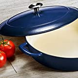 Tramontina 80131/069DS Enameled Cast Iron Covered Braiser, 4-Quart, Gradated...