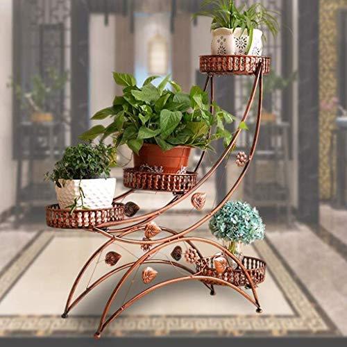 smzzz Heimwerker Blumen Display Halter Pflanzenständer Blumenständer Regal Eisen Kunst Mehrschichtige Montage Wohnzimmer Balkon Europäischer Minimalismus