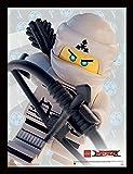 Lego Ninjago película Zane Crop Impresión enmarcada, Multicolor