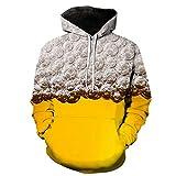FULUN - Sudadera de manga larga para hombre, de algodón, lino, con capucha suelta, con bolsillos canguro, con cordón