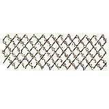 Dysetcs Pantalla de valla artificial expandible decorativa de madera de hiedra sintética, panel de esgrima de esgrima artificial con flores de una sola cara para decoración al aire libre del hogar