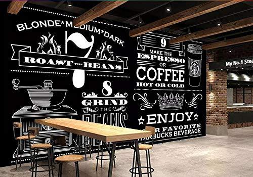 Papel Tapiz Personalizado Minimalista Europeo Pintado A Mano En Blanco Y Negro Cafetería Mural Fondo Pared Mural Póster 3D-350Cmx256Cm(137.8X100.8Inch)