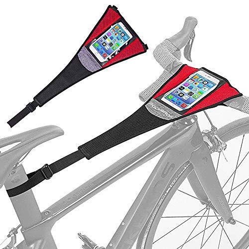 """JPYH Protector De Sudor De Bicicleta, Cubierta De Sudor para Entrenamiento De Bicicleta Impermeable EláStica Absorber El Sudor para Rodillos Ciclismo Dos Tipos Adecuada para Telefonos MóViles 6.0"""""""
