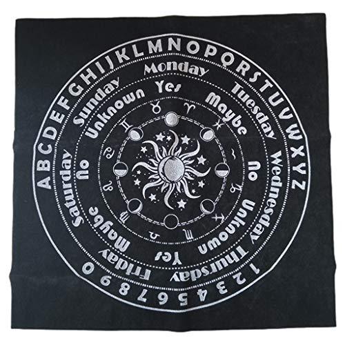 Fhdjcn 30x30cm Pagan Art Mantel de Tela de Altar Adivinación Juego de Cartas Pad Péndulo Tabla Cubierta de Mesa