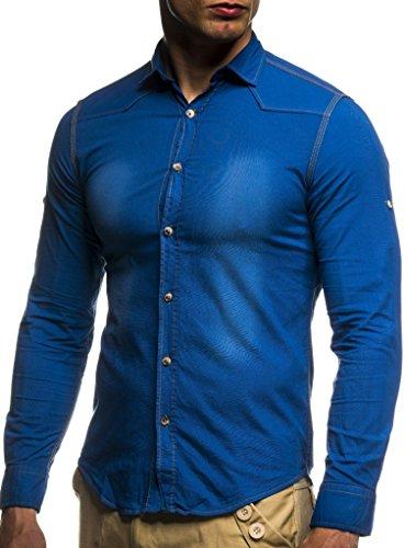 Leif Nelson Camisa para Hombre Look Slim Fit BŸgelleicht Tendencia de Manga...