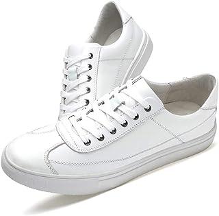 [OceanMap] 本革 スニーカー メンズ レディース おしゃれ 白の靴 トレンド レースアップ ローカット 厚底 スニーカー デッキシューズ 軽量 歩きやすい 大きいサイズ 小さいサイズ レースアップシューズ 通勤 通学 日常 旅行 アウトドア