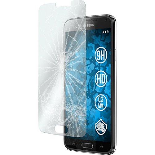 PhoneNatic 1 x Pellicola Protettiva Vetro Temperato Chiaro Compatibile con Samsung Galaxy S5 Pellicole Protettive