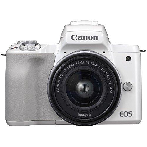 キヤノン EOS Kiss M EF-M15-45 IS STM レンズキット (ホワイト/ミラーレス一眼カメラ) EOSKISSMWH1545ISLK
