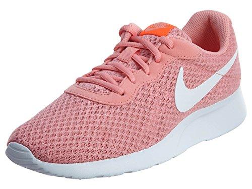 Nike Womens Tanjun Lava Glow/White Total Crimson Running Shoe 6.5 Women US