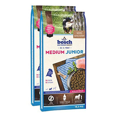 bosch Hundefutter Verschiedene Sorten 2x15kg Medium Junior