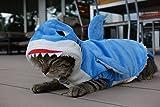 Das Allererste Hai-Kostüm für Katzen - Tierfreundlich, Lebendig Blau, Super Weich, 100% Baumwolle