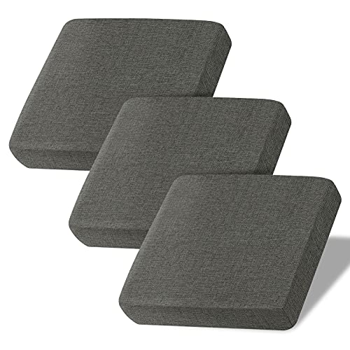 Linen Couch Cushion Covers, Sofa Cover Sofa Furniture Protector Slipcover with Bottom Velcro, Soft Non-Slip Non-Wrinkle Non-Sticky Suitable for Chair Bench Settee Seat Loveseat (Grey, Set of 3)