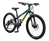 Mongoose Switchback Kids Mountain Bike, Navy Blue, 20-Inch or 24-Inch Wheels