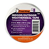 Frost King T94H Plastic Weather-Seal Tape 2-Inch by 25-Feet, Clear, 2' X ft