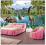 Papel tapiz Custom Photo 3D Stereo Dinosaurios grandes Era Dinosaurios Sala de...