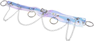 Baoblaze Women's Artificial Leather Belt Waist Harness Punk Gothic Metal Chain Tassel Body Caged Belt Strap