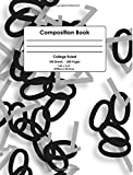 Composition Book: Black & Gray Binary Code, College Ruled School Notebook, 200 pages, 7.44'x9.69'