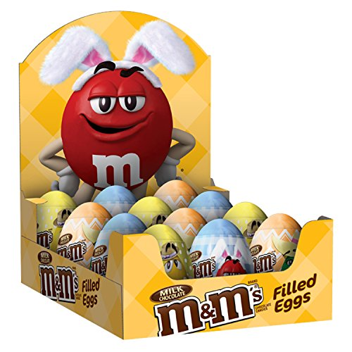 M&M'S Easter Milk Chocolate Candy in Easter Eggs 0.93-Ounce Egg 12-Count Box