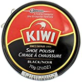 KIWI Shoe Polish Paste in Tin, Black Large 2.50 oz - 3 Pack