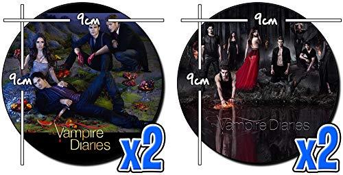 MasTazas The Vampire Diaries Nina Dobrev Ian Somerhalder Paul Wesley F Untersetzer x4 Coasters